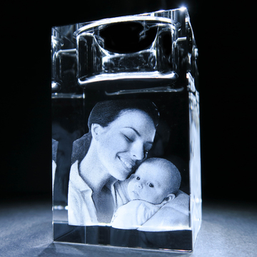 In a Crystal 3D Photo Candle 2 2