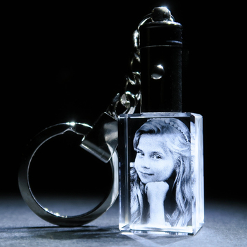 In a Crystal 3D Photo Keyring 2 1
